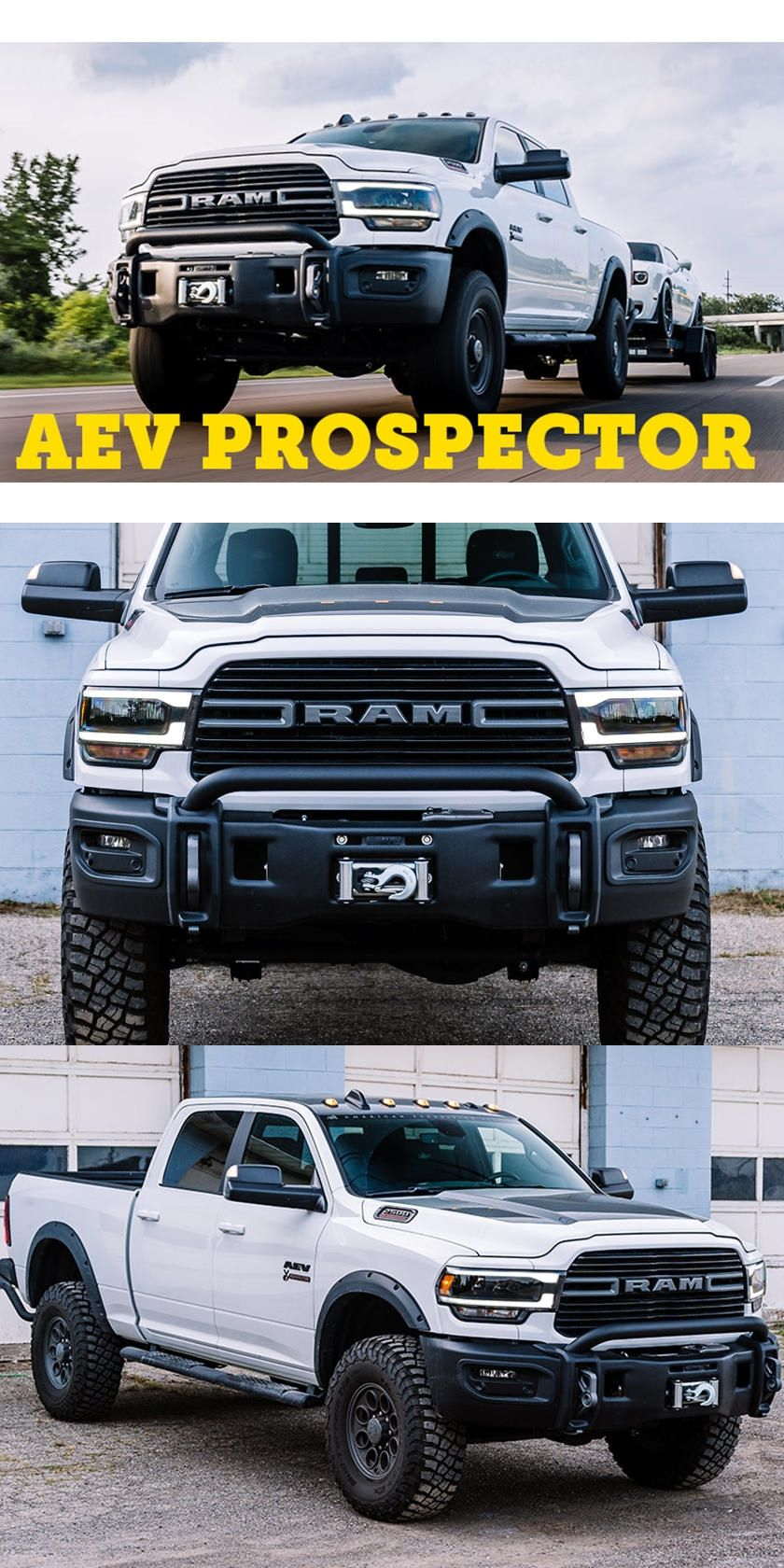This Ram 2500 Hd Laughs At The Ford Super Duty Tremor Aev S Newest Prospector Is Ready To Go Conquer The American Expedition Vehicles Ram 2500 Ram Power Wagon
