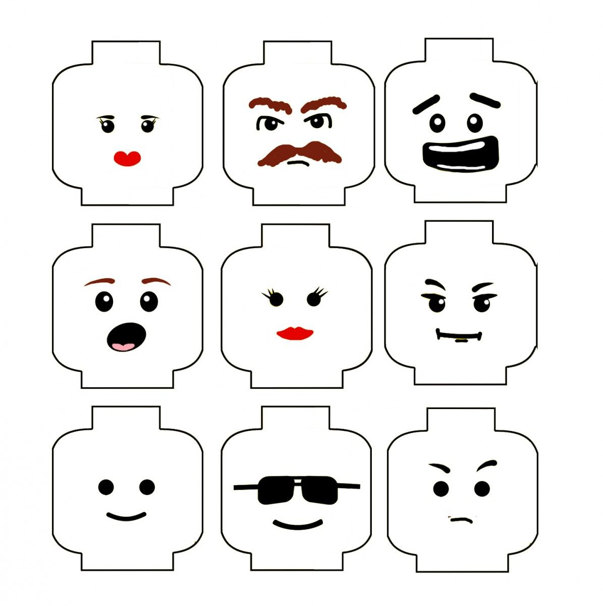 image relating to Lego Faces Printable titled Low-cost Basic Lego Birthday Get together I which include this Lego thoughts