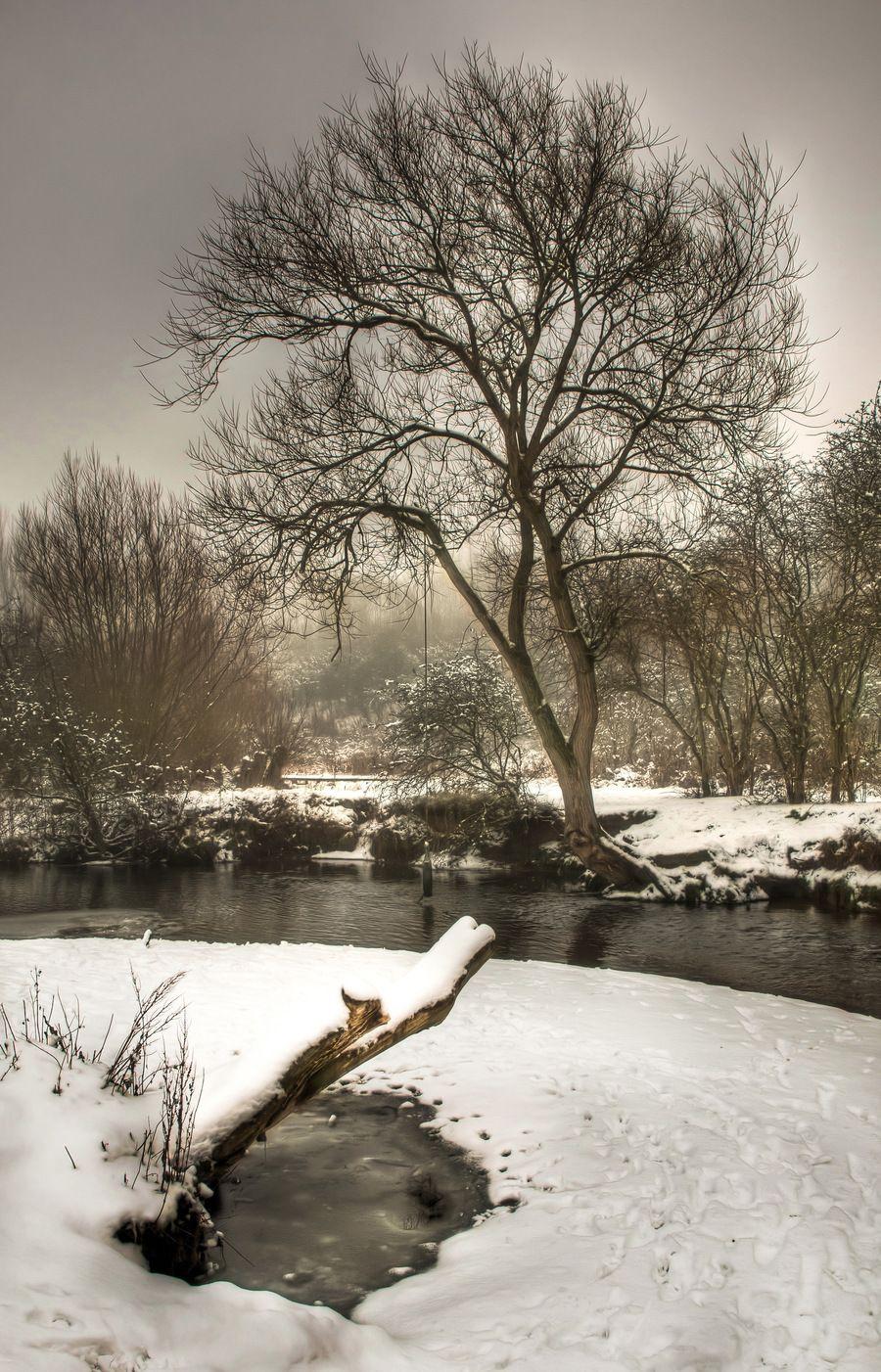 Snow at the river