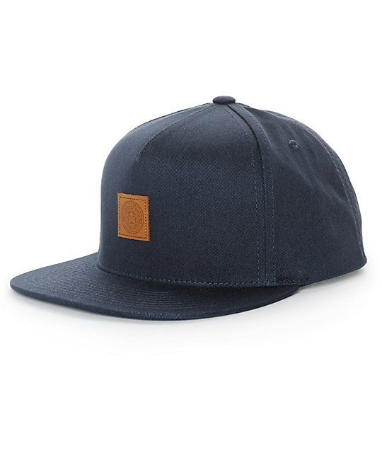 Clean up your hat game with a small Obey Worldwide Propaganda leather logo  patch on the front of a navy cotton crown. 718788b7c63