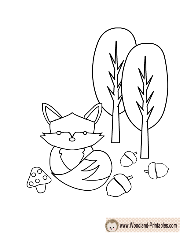 Free Printable Woodland Animals Coloring Pages Animal Coloring Pages Fox Coloring Page Coloring Pages