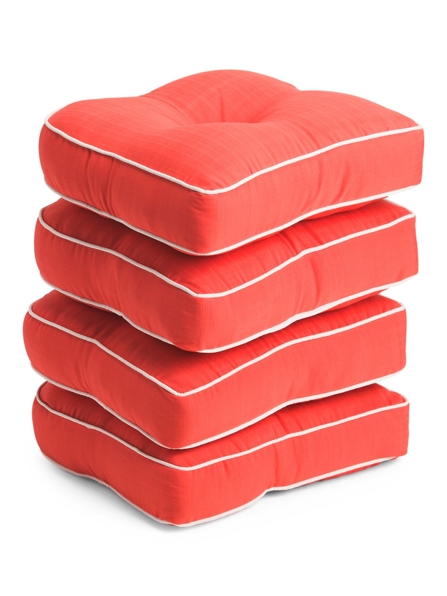 4pc Indoor Outdoor Cushion Set Throw Pillows T J Maxx Outdoor Cushions Indoor Outdoor Pool Indoor Outdoor