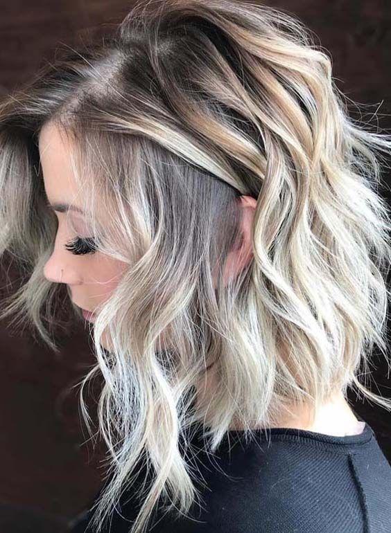 45 wunderschöne verwurzelte Baby Blonde Haarfarbe Ideen im Jahr 2018 - Modern #mediumlengthhair