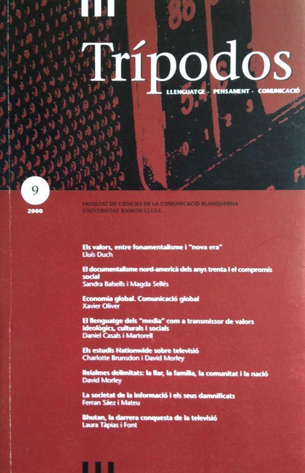 Revista Trípodos, 9, Facultat de Comunicació Blanquerna, Universitat Ramon Llull, 2000