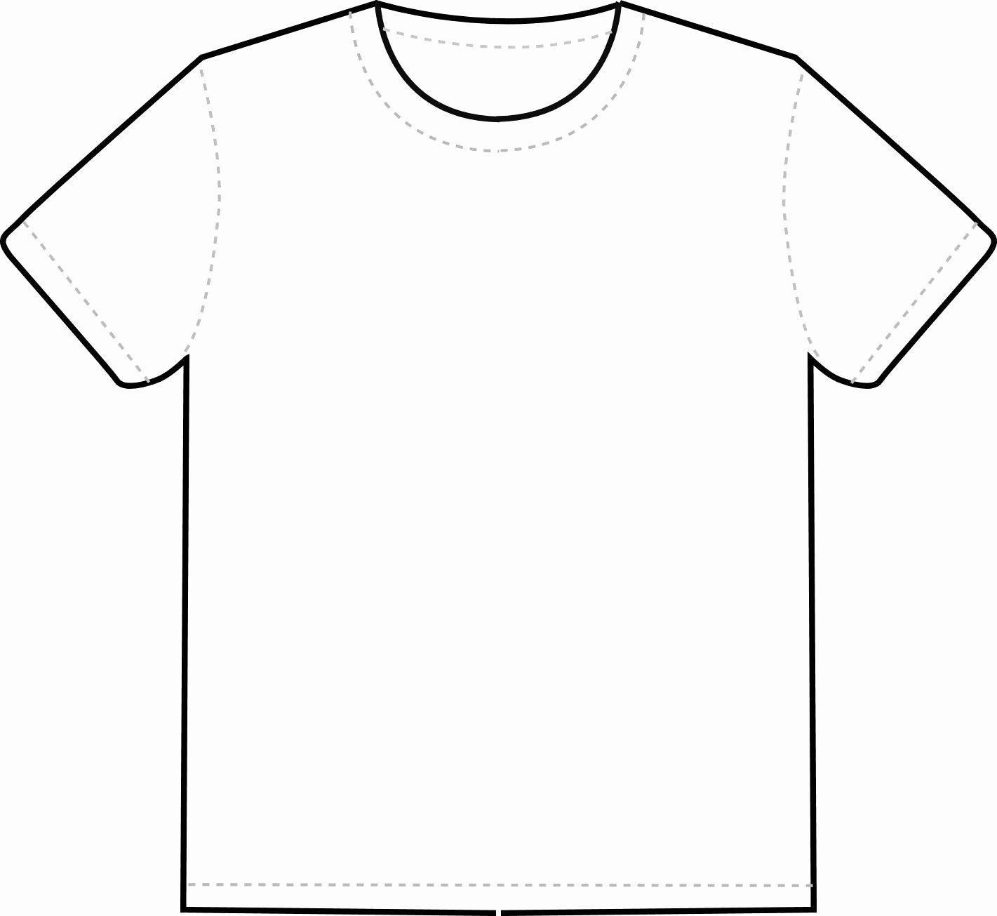 T Shirt Coloring Page