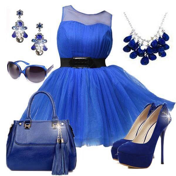 a72debe2b1 Vestido azul añil