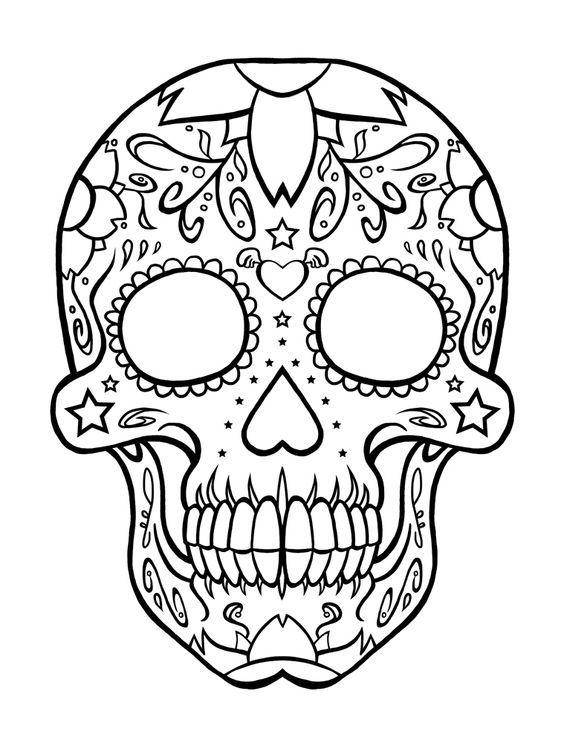 Imagenes De Dia De Muertos Frases Calaveras Dibujos Y Ofrendas Sab Calaveras Mexicanas Para Colorear Dibujo Dia De Muertos Tatuajes De Calaveras Mexicanas