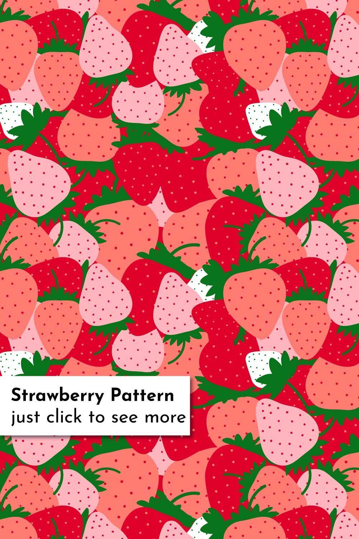 Strawberry Pattern All Over Backgroundbackground