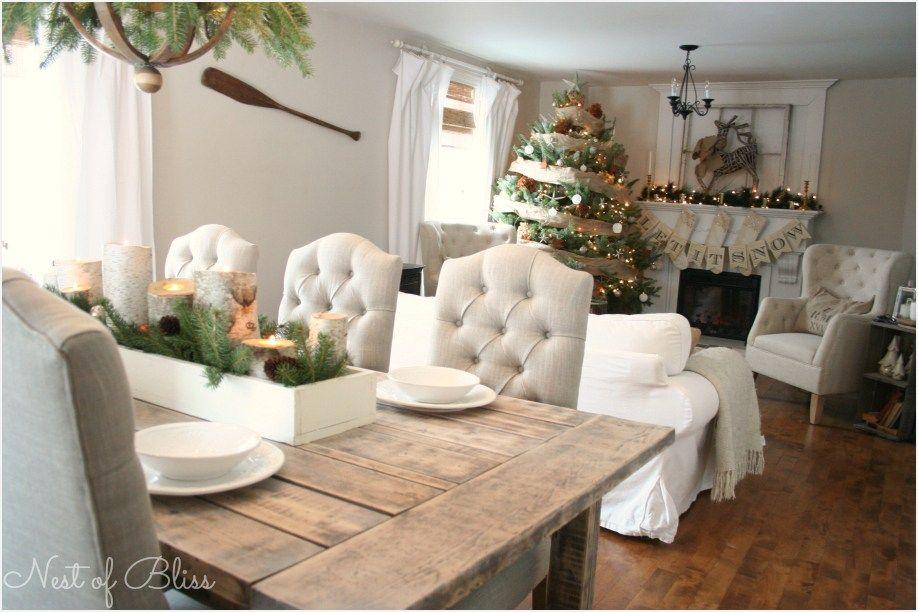 41 Stunning Farmhouse Christmas Living Room Decor Ideas ...
