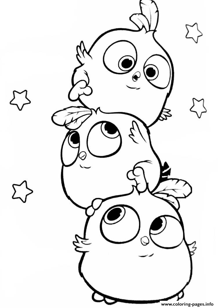 Print Angry Birds Hatchlings The Blues Coloring Pages Cute Doodle Art Bird Coloring Pages Cute Cartoon Drawings