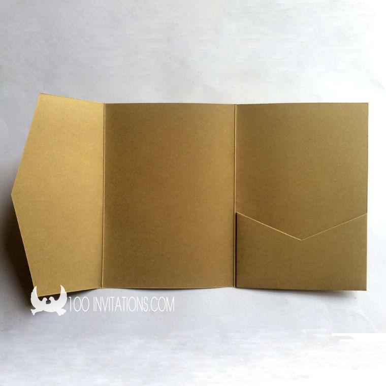 Blank Rustic Pocketfold Wedding Invitations Lovely Little Weddings