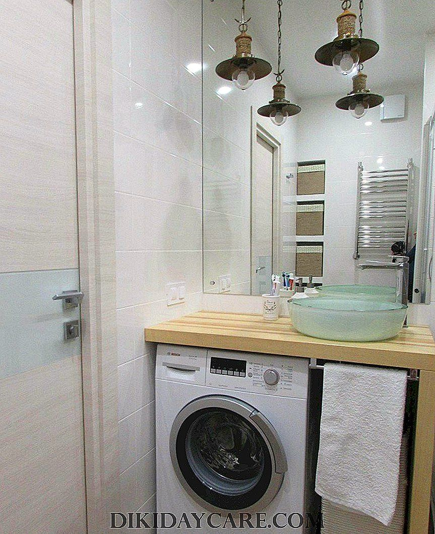 Sink over washing machine +75 photos, types and shapes ... on Small Space Small Bathroom Ideas With Washing Machine id=96374