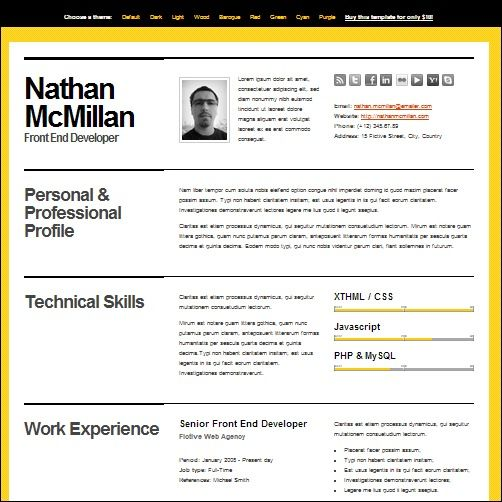 Great Splash Magazine 35+ Best CV And Résumé Templates   Splash Magazine Regard To Best Template For Resume