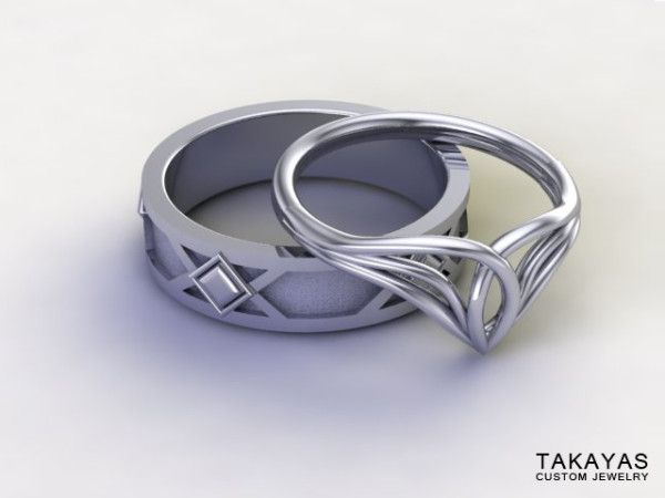 These 'LOTR' Wedding Rings Definitely Rule Them All | Dorky