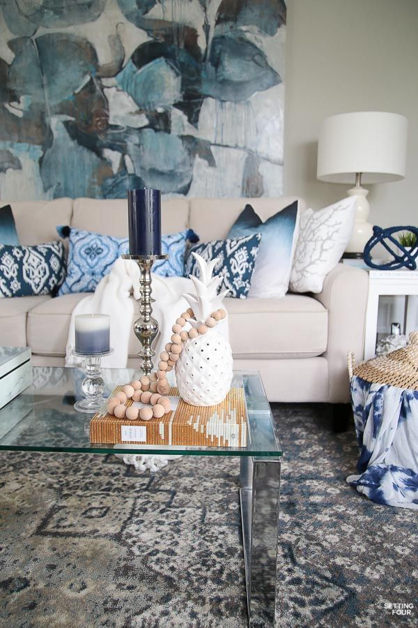 Decorating With Indigo Blue Black And Gray Shades Of Summer