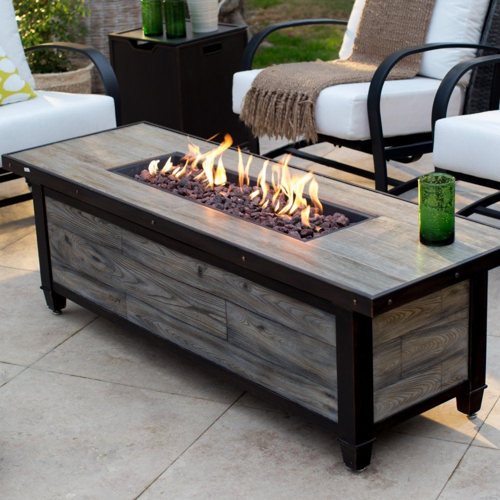 Fire Pit Table Gas Burner Patio Deck Outdoor Porch Fireplace Heater