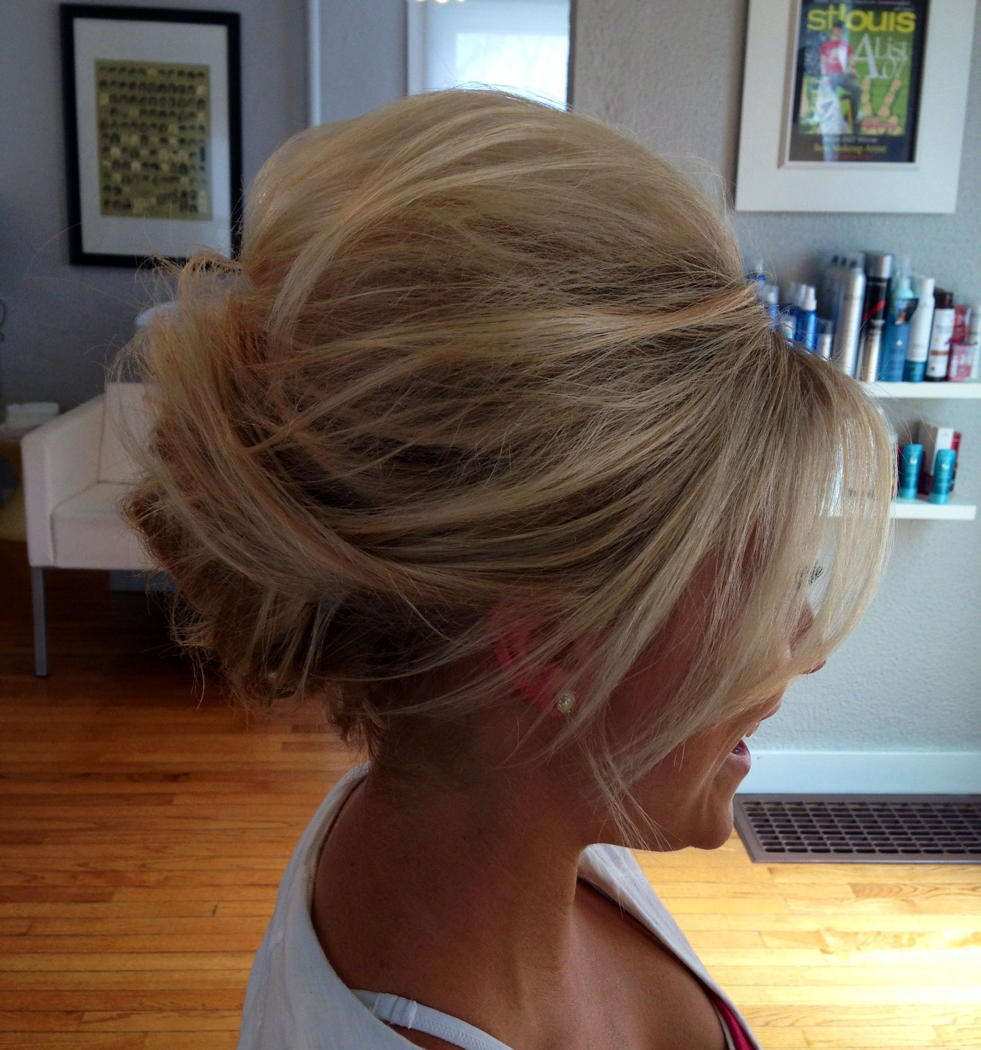 Beehive Style Wedding Hair: Textured Bee Hive