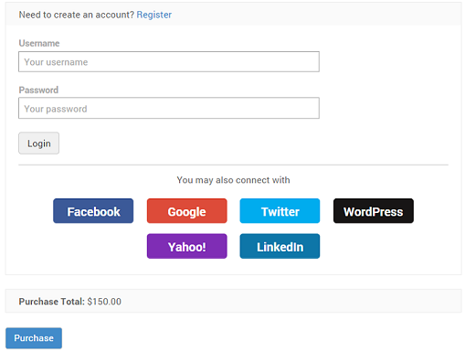 Social Media Login WordPress