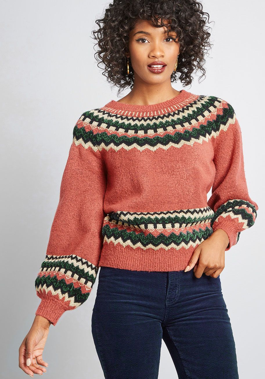 87ff820f657 Afternoon Crafting Fair Isle Sweater - Before diving into your next  creative endeavor
