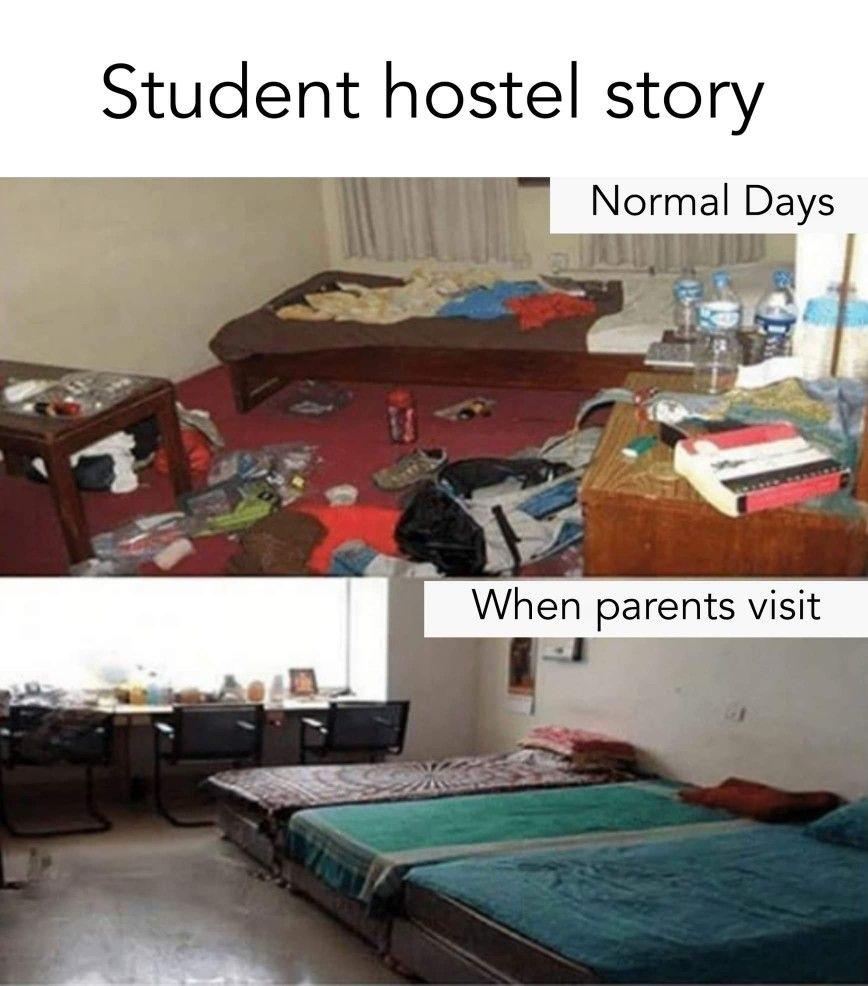 Student Hostel Life Funny Fun Facts Funny Jokes Hostel