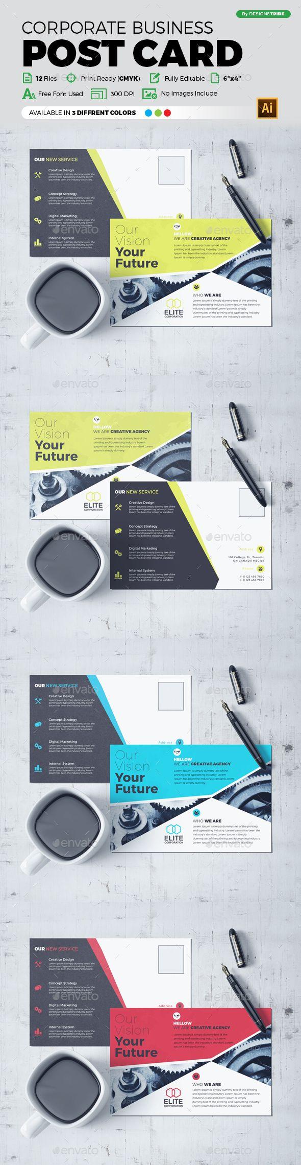Post Card Design   Post card, Ai illustrator and Postcard design