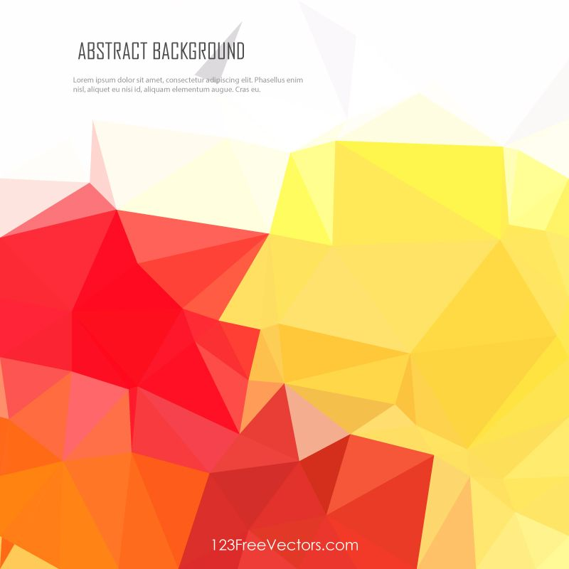 Polygonal Red Yellow Background Vector Yellow Background