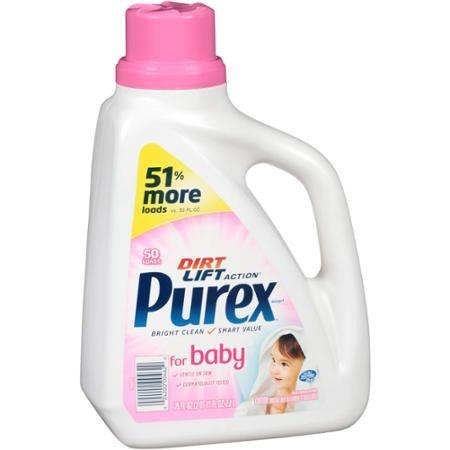 Purex Dirt Lift Action Liquid Laundry Detergent For Baby 50 Loads