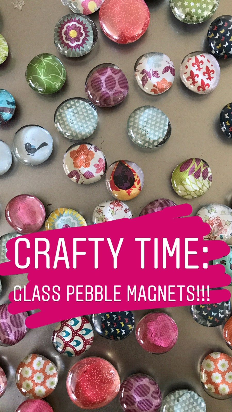 Glass Pebble Magnets: How to Make, Personalize, Pa