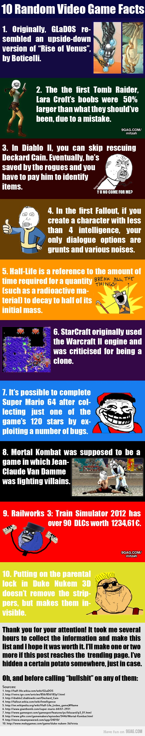 10 True random video game facts Video game facts, Video