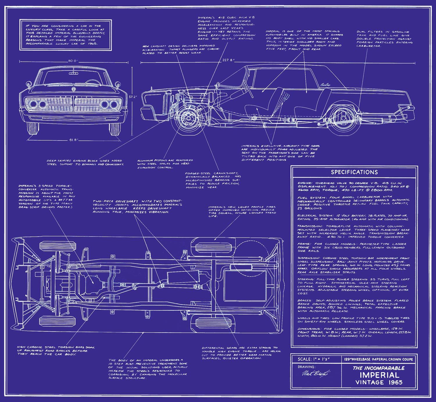 1965 (Chrysler) Imperial Blueprint | Imperial by Chrysler ...