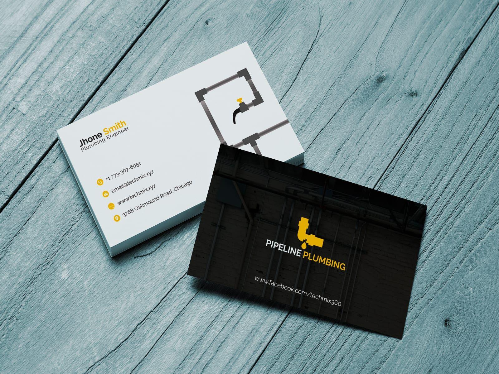 Plumbing Business Cards Template Business Cards Collection Business Cards Creative Business Card Design Creative