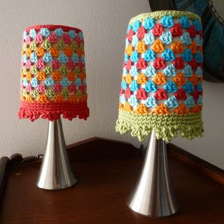 Karin on the hook: Lamp Cover