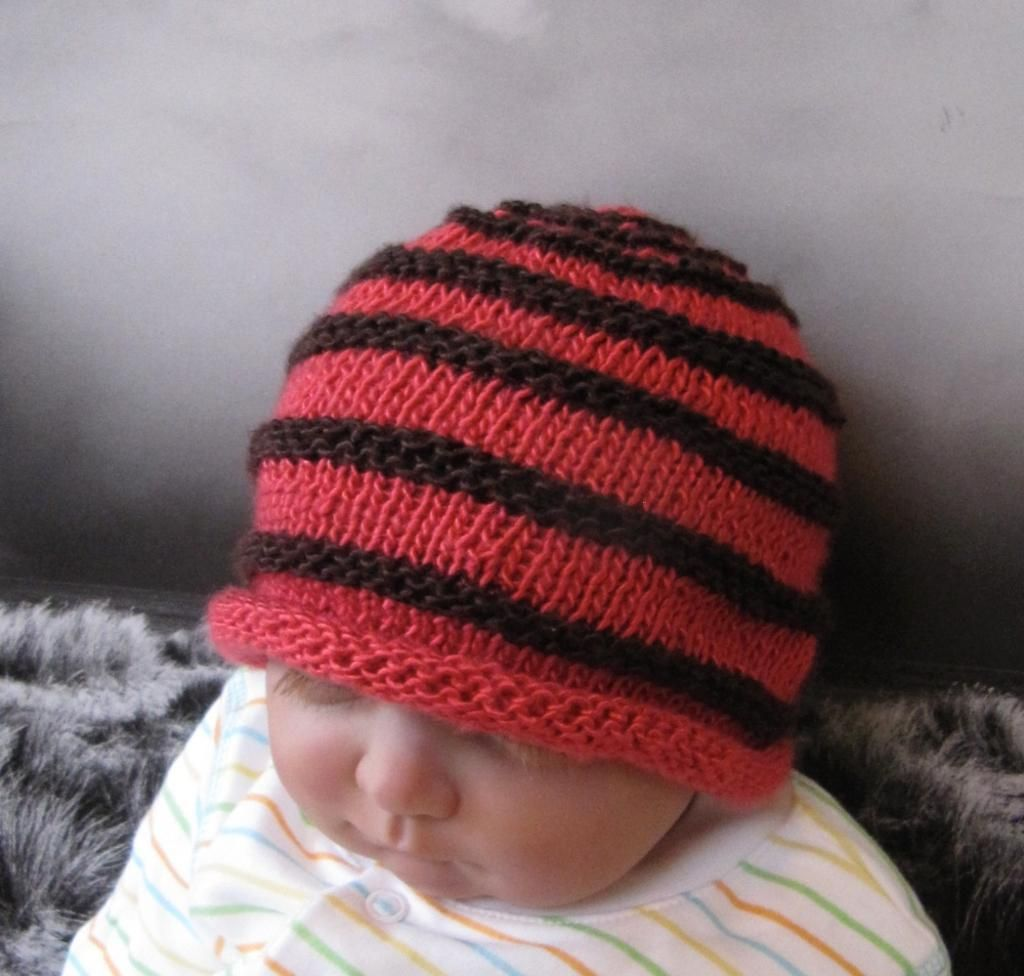 Baby simple stripe roll brim beanie hat patterns babies and baby simple stripe roll brim beanie hat baby hats knittingknitting patterns bankloansurffo Image collections