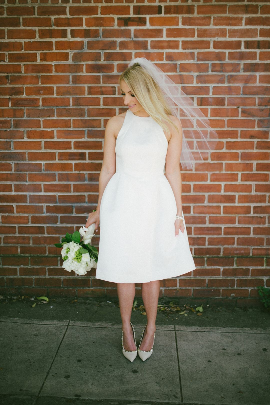 Simple modern wedding dress  Wedding Photos  Intimate City Hall Elopement in San Francisco  San