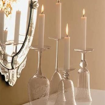 D.I.Y - Wine Glass Candle Holders!