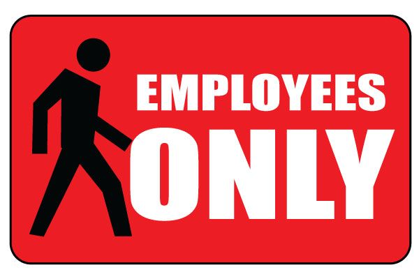 Divine image inside printable employees only sign