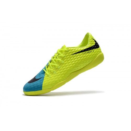 barato nike hypervenom iii ic amarillo azul zapatos de futbol