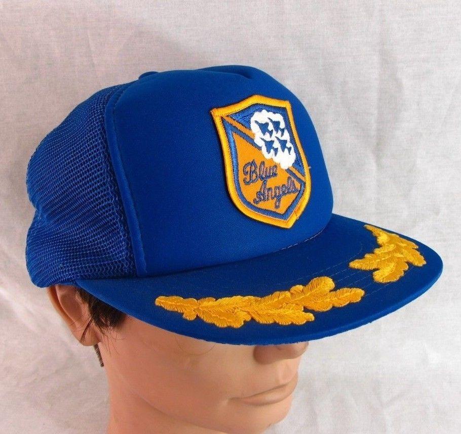 223a571c97a Blue Angels Hat Adjustable Cap Vintage Snapback Trucker Navy Air Force  Airplanes  DesignerAward  BaseballCap