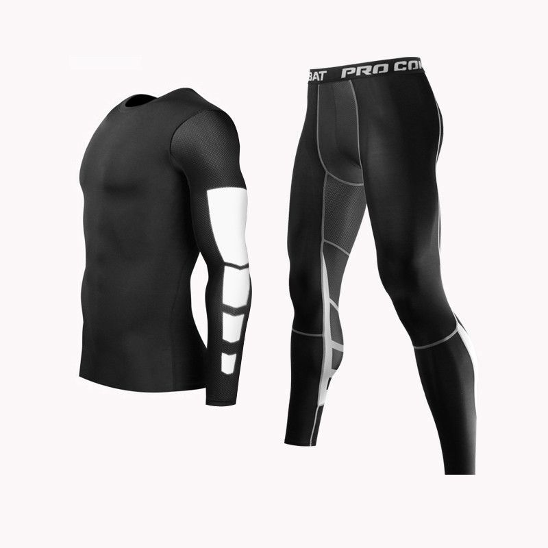 Mens Compression Running Jogging Collants Athletic Sous Base Couches Fitness Pantalon