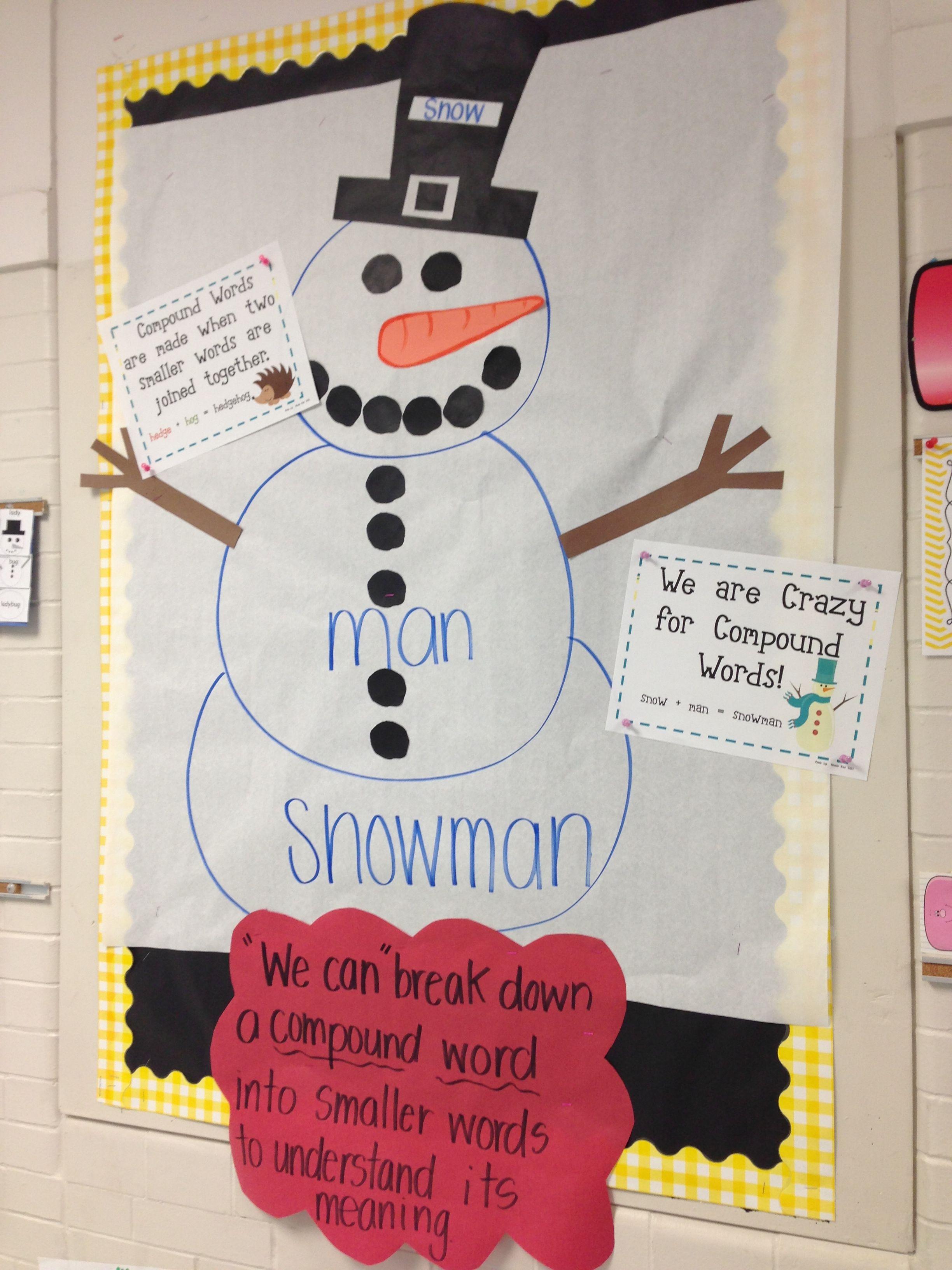 Snowman Compound Words