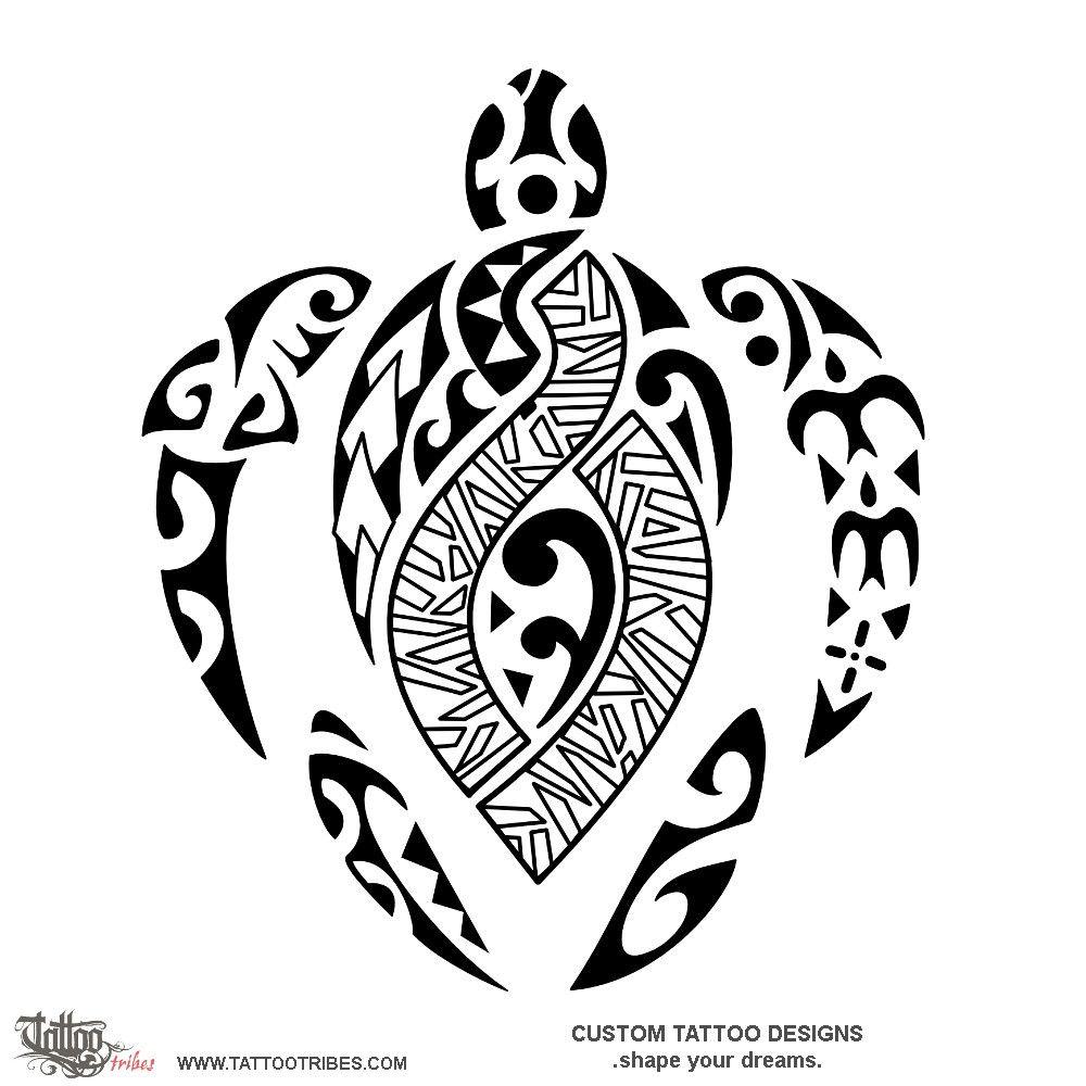 Maori Twist Tattoo: Makuakāne Keikikāne Father And Son. The Turtle Is A Common