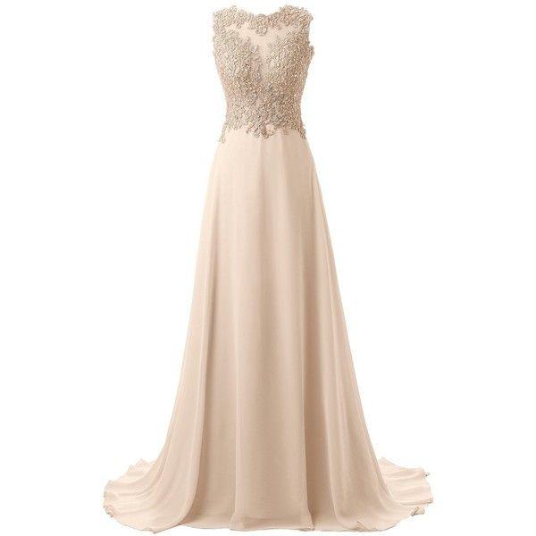 Amazon.com: Callmelady Lace Appliqued Prom Dresses 2017 Long Evening... (