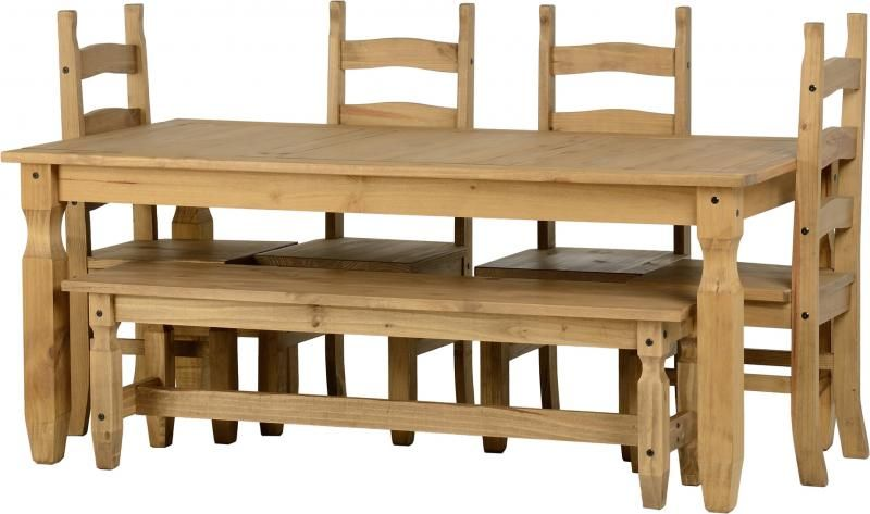 Lovely 6 Foot Dining Table Bench
