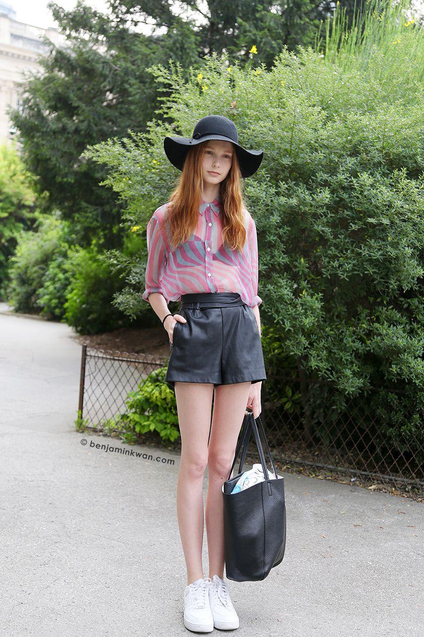 Grace Simmons at Dries van Noten SS 2015 Paris Snapped by Benjamin Kwan Paris Fashion Week