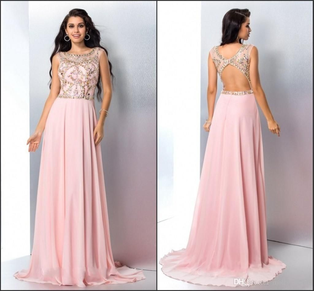 Blush Pink Prom Dresses Evening Gowns Formal Dress From Molly_bridal ...