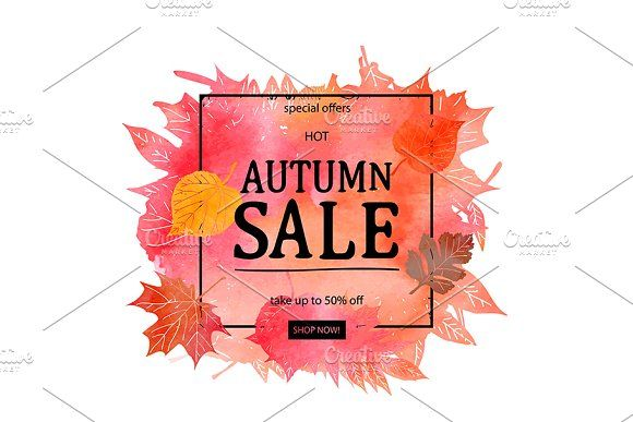 Autumn Sale Discount Vector Banner By Aromeo On