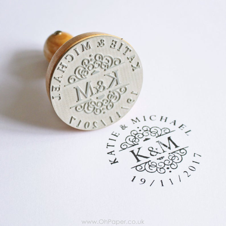 Date Stamp Personalised Rubber