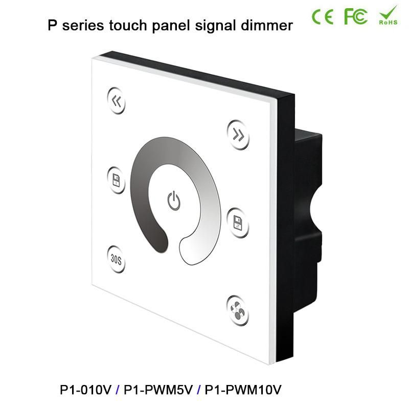 Bc Wall Mounted Led Touch Panel Signal Dimmer 0 1 10vanalog Pwm5v Pwm10v Signalx2ch Led Controller For Dc12v 24v Led Strip Light Led Controller Led Strip Lighting Touch Panel