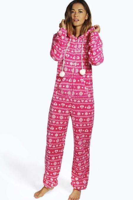 Womens Fairisle Fleece #Onesie #Fashion Stay cosy this season with ...