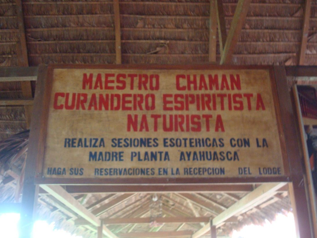 Ayahuasca signage.